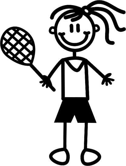 My Family Sticker - Girl Playing Tennis