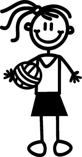 My Family Sticker - Older Girl With Netball