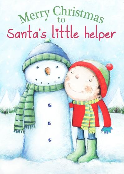 Christmas Card - Santa's Little Helper Girl