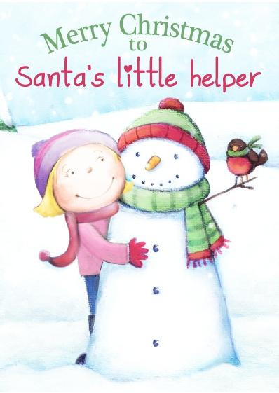 Christmas Card - Santa's Little Helper Boy