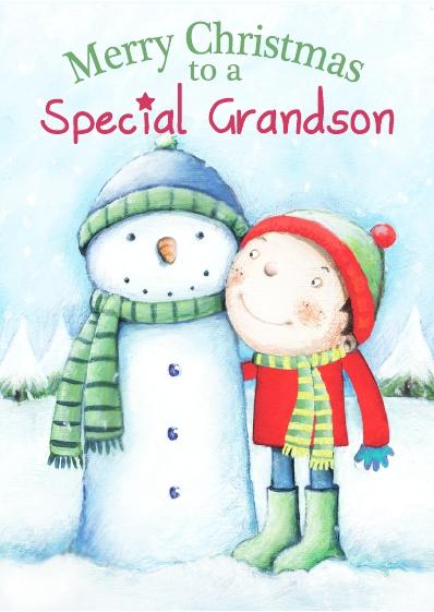 Christmas Card - Special Grandson