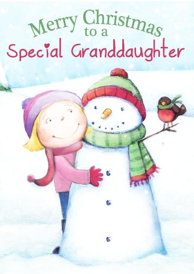 Christmas Card - Special Granddaughter