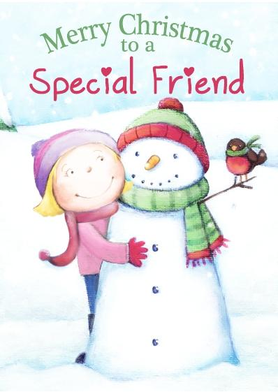 Christmas Card - Special Friend Girl