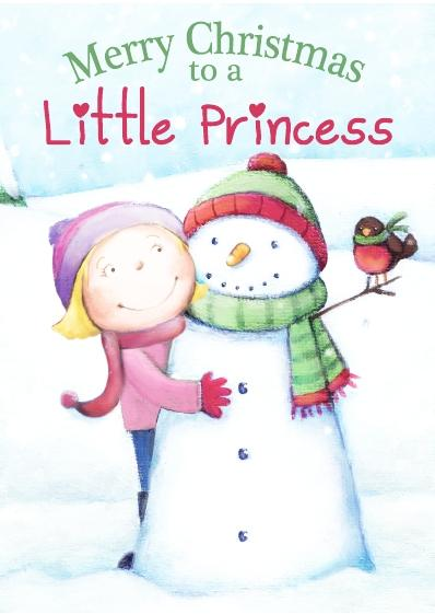 Christmas Card - Little Princess