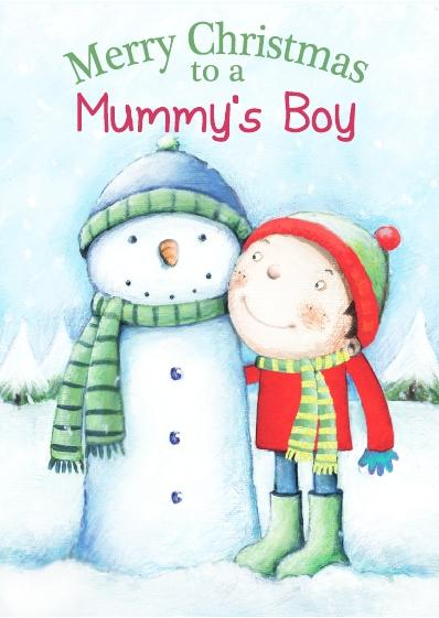 Christmas Card - Mummy's Boy