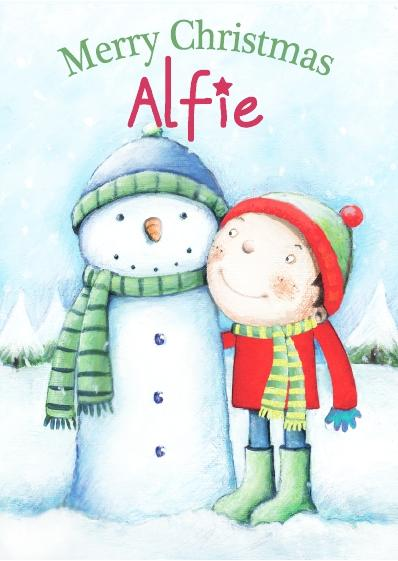 Christmas Card - Alfie