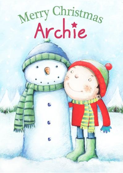 Christmas Card - Archie