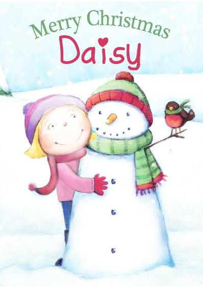 Christmas Card - Daisy