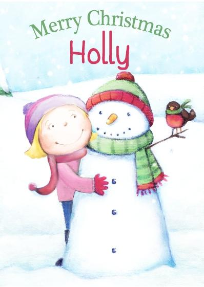 Christmas Card - Holly