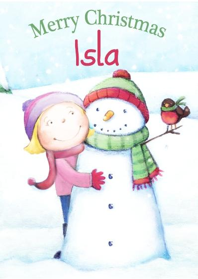 Christmas Card - Isla