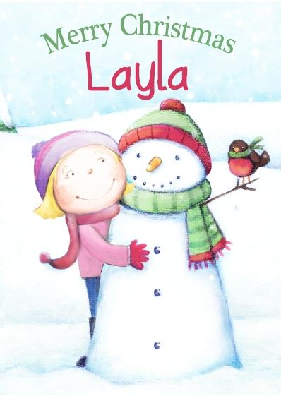 Christmas Card - Layla