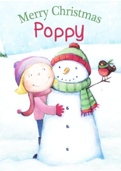 Christmas Card - Poppy