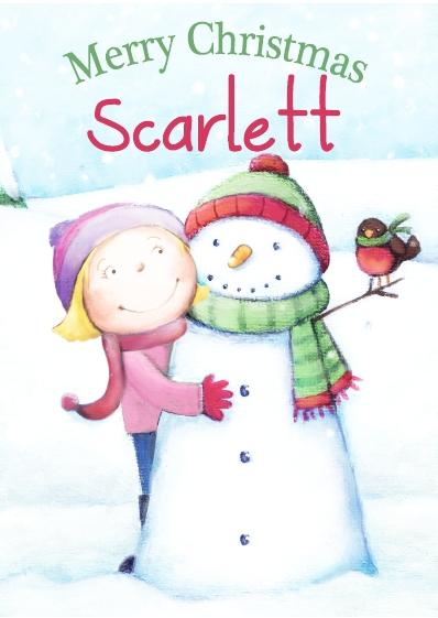 Christmas Card - Scarlett
