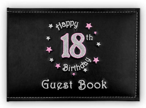 18Th Guest Book Birthday Pink