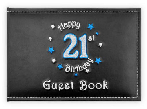 21st Guest Book Birthday Blue