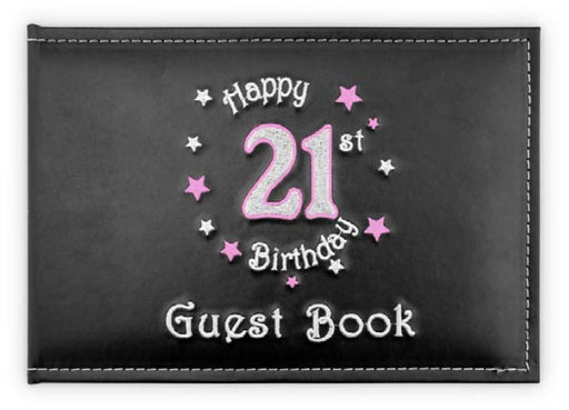 21st Guest Book Birthday Pink
