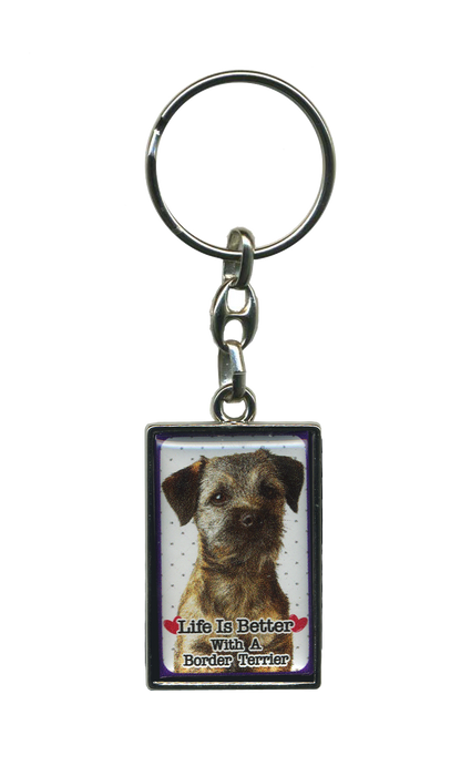 Life Is Better With A Dog Metal Keyrings