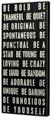 PK002 Primitives Large Wall Sign - Be Bold
