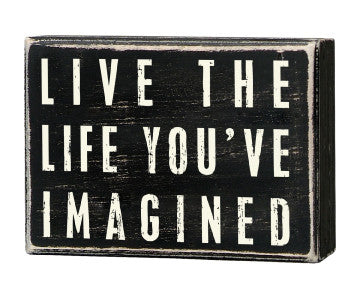 Primitives Box Sign - Live The Life