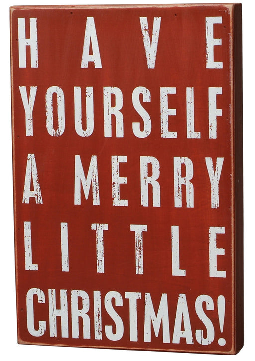Primitives Medium Christmas Box Sign - Have A Merry Christmas