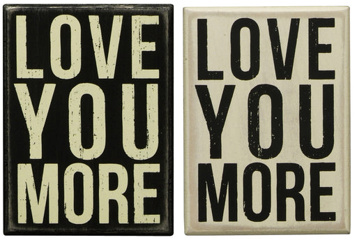 Primitives Box Sign - Love You More