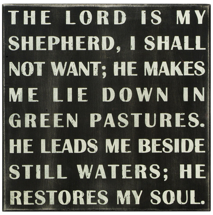 Primitives Box Sign -  The Lord Is My Shepherd