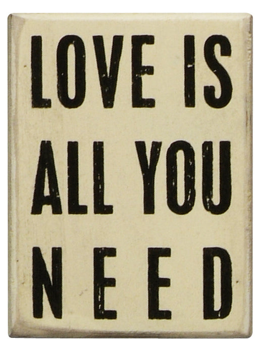Primitives White Box Sign - Love Is All You Need