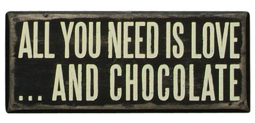 PK147 Primitives Box Sign - Love and Chocolate