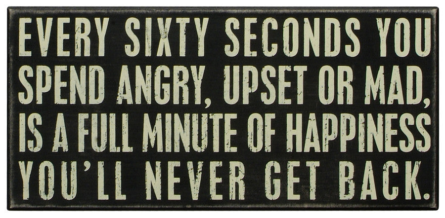 Primitives Box Sign - Every Sixty Seconds