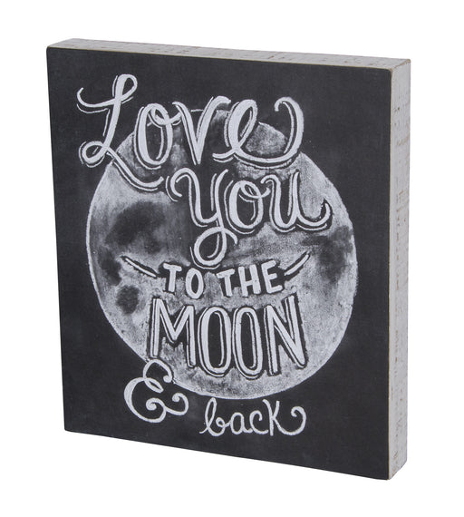 Primitives Box Sign - Love You To Moon