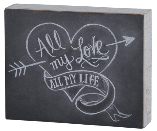 Primitives Hanging Box Sign - All My Love