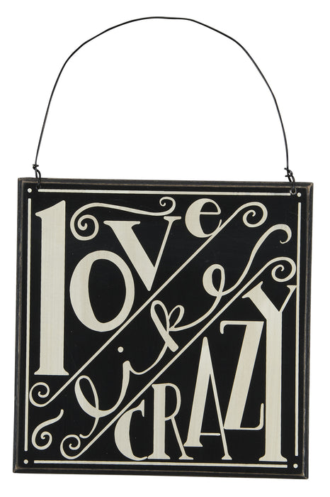 Primitives Hanging Box Sign - Love Like Crazy