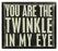 Primitives Box Sign - Twinkle In Eye