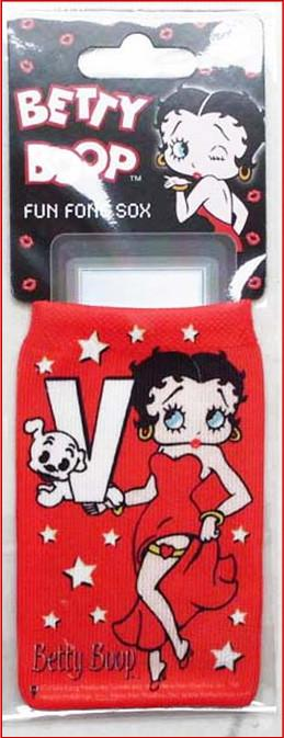Betty Boop Phone Sox Initial W