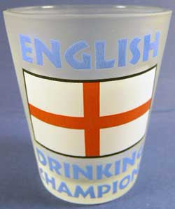 Shot Glass English Champion