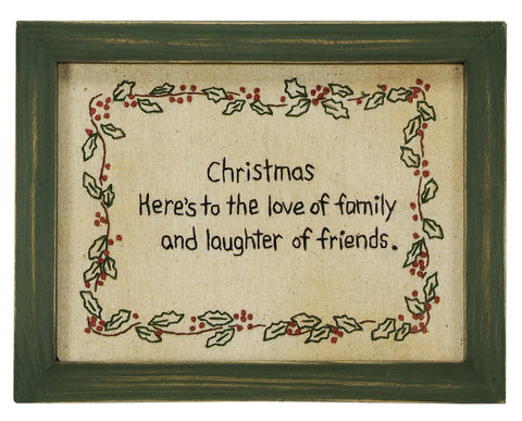 Stitcheries by Kathy Sign - Christmas - Family & Friends