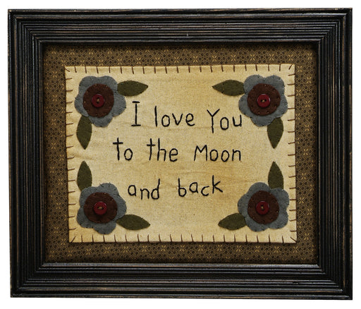 Stitcheries by Kathy Sign - Love You To The Moon And Back