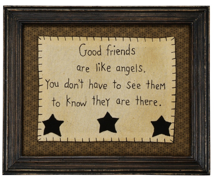 Stitcheries by Kathy Sign - Good Friends are like Angels