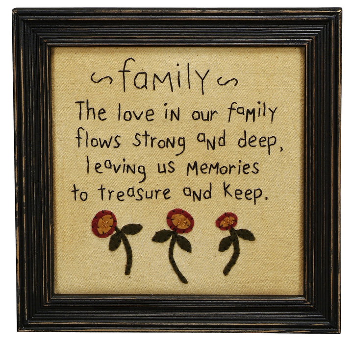 Stitcheries by Kathy Sign - Family