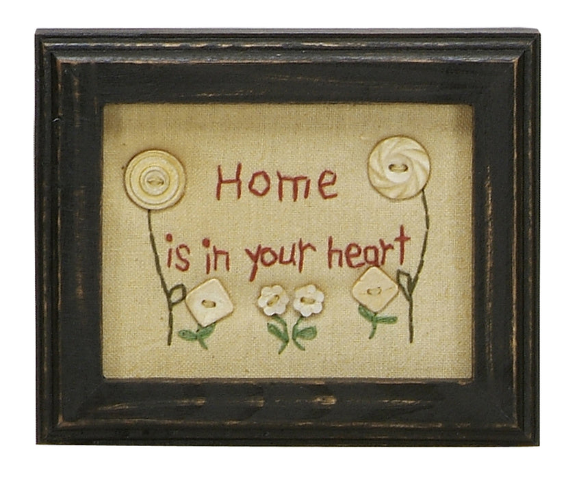 Stitcheries by Kathy Sign - Home Is In Your Heart
