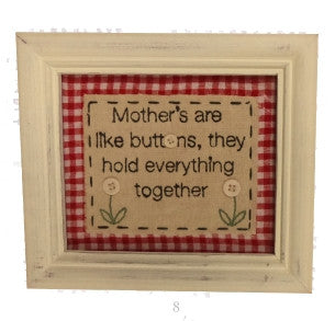 Stitchery Sign - Mothers are like Buttons