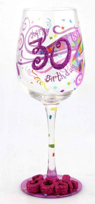 T3778A 30th Birthday Wine Glass