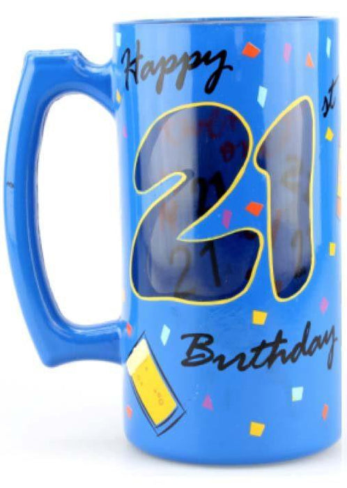 T3786CG 21st Birthday Beer Tankard