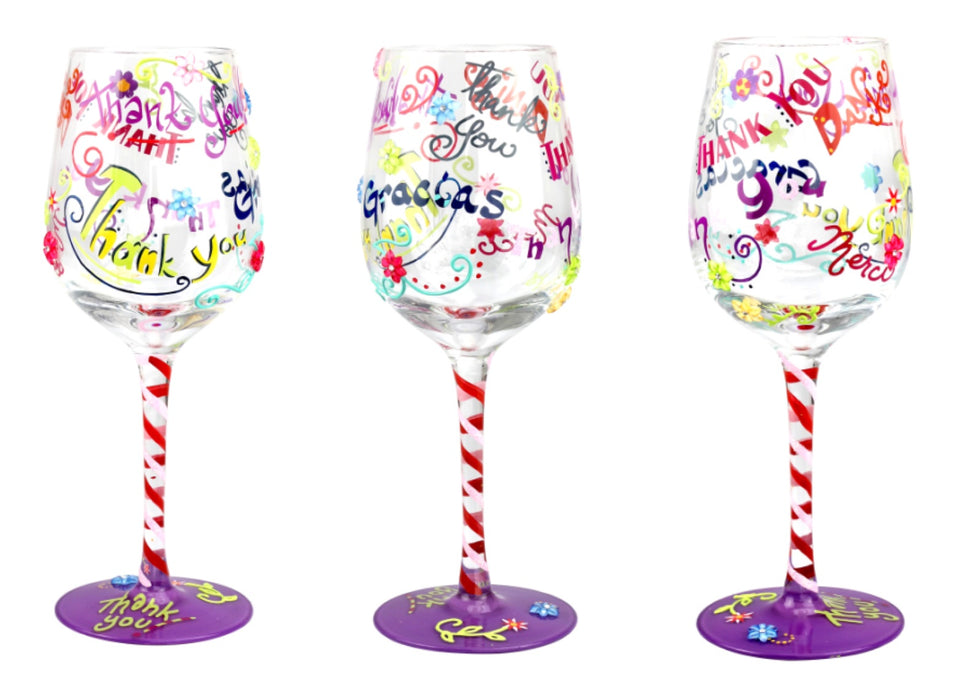T4004A Thank You Wine Glass