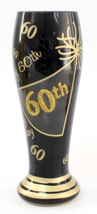 T4090C 60th Birthday Beer Glass