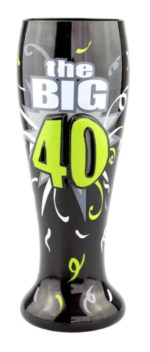 T4609C 40th Birthday Beer Glass