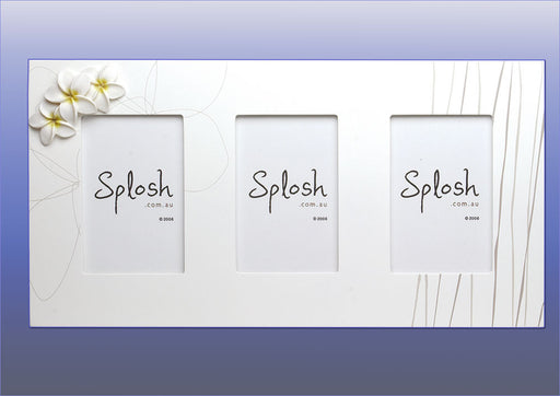 Splosh Frangipani Flowers Triple Photo Frame