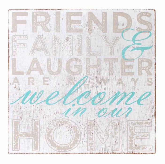 Welcome Home Welcome 9'' Sign  White