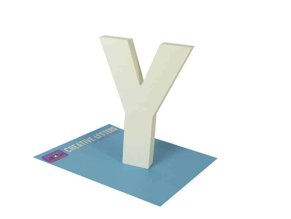 Creative White Letter Y