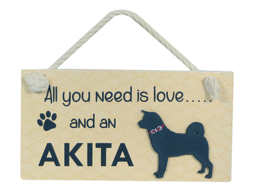 Wooden Pet Sign - Akita